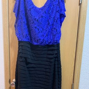 Dresses & Skirts - Blue lace top and black dress 16